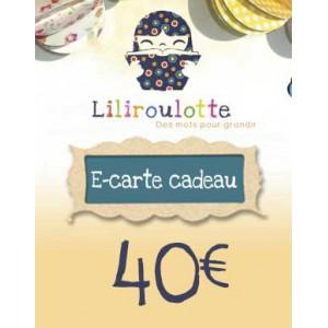 Carte cadeau Liliroulotte