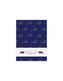 Carnet Baleine bleue A6