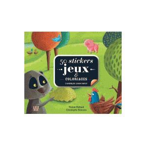 50 stickers jeux et coloriages - Cahier-jeu John Doeuf